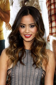 Jamie Chung hair and makeup #ombre #hairandmakeup #waves