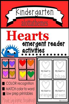 Are you looking for some fun and Low Prep Valentine's Day Activities? Your students will have so much fun coloring these hearts. This literacy activity is great for morning work,group work or during centers. The mini booklets are easy for young readers. Alphabet Activities, Reading Activities, Kindergarten Activities, Kindergarten Reading, Motor Activities, Emergent Readers, Valentines Day Activities, Group Work, Learning Through Play