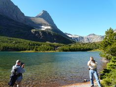 While hiking Glacier National Park, we stopped to take photos at Red Rock Lake, which was on the trail to Bullhead Lake. Look how clear the water is.