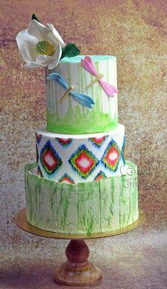 woodland wedding cake ...  by Hima bindu - http://cakesdecor.com/cakes/259461-woodland-wedding-cake