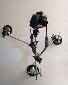 Camera rig mounted to wall for test. Purchased from www.filmtools.com I'll get it mounted to the car tomorrow :-)