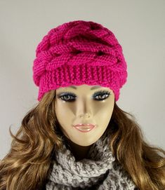 KNITTING PATTERN HAT  Aralenna Hat  knit winter by LiliaCraftParty