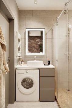 Kleines Bad Gestalten Waschmaschine Stauraum Ideen Home Bad In