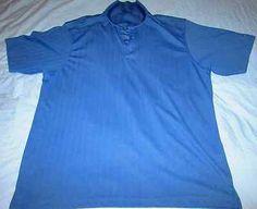 PGA Tour Performance Mens Blue Stripe X-Large Short Sleeve $19.99