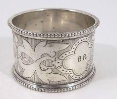 Antique English Victorian Solid Silver Napkin Ring, by Thomas Prime & Son, 1871 #ThomasPrimeSon