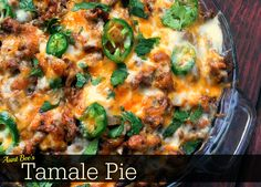 Aunt Bee's Tamale Pie combines a delicious corn casserole with a flavorful Mexican dish. The bottom of this casserole is very similar to corn casserole. While the bottom of the casserole bakes in the oven, brown the ground beef. Mexican Dishes, Mexican Food Recipes, Beef Recipes, Cooking Recipes, Mexican Meals, Cooking Tips, Mexican Desserts, Yummy Recipes, Italian Pastries