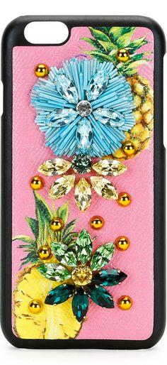 DOLCE & GABBANA Fruit Crystal iPhone 6/6s Case, Pink/Multi