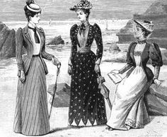 """""""The Girl's Own Annual"""", Fashion Plate Drawing. 1891."""