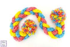 Fun Finger Knit Scarf for Kids from Fiber Flux