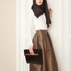 - Style Statement: Our popular Brocade skirt has been restocked in time for Eid. Green Brocade Skirt Pair with the White Crepe Top www.inayahcollection.com