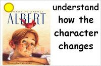 Minilesson on thinking about how characters change in stories; common core connections included