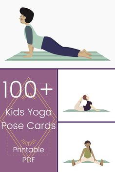Get a printable PDF of over 100 beautifully illustrated kids yoga pose cards! Each pose card is a full-size page in a downloadable PDF and has a description of how to do the pose on the next page. You can print them or use on a device. The beautiful images have a diverse set of children, all with different colored skin tones, hairstyles, and even clothing. Perfect for use in a classroom, studio, or at home with kids of all ages! Kids Yoga Poses, Yoga For Kids, Movement Activities, Activities For Kids, Emotional Regulation, A Classroom, Teaching Strategies, Yoga Videos, Printable Cards