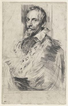 Anthony van Dyck with additional etching and engraving attributed to Lucas Vorsterman the Elder Jan van den Wouwer, 1632 (?) Etching and engraving (second state) 9 ¾ × 6 ¼ in. Potrait Painting, Portrait Art, Painting & Drawing, Portraits, Academic Drawing, Academic Art, Chalk Drawings, Art Drawings, Anthony Van Dyck