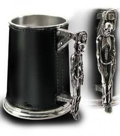 """☆ Skull Turpins Gallows Leather Wrapped Tankard """"By Alchemy Gothic"""" :¦: Shop: Gothic Plus ☆"""