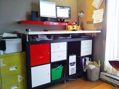 IKEA Hackers - Dry erase standing desk