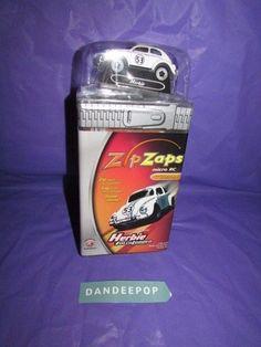 ZipZaps Herbie Disney Fully Loaded Micro RC Car Radio Shack 600-7075 New Toy #ZipZaps #microrc #rccar #toy #radioshack #herbie #disney #rc #fullyloaded #dandeepop Find me at dandeepop.com
