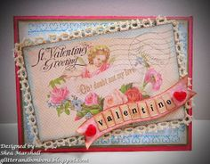 Another gorgeous Valentine's Day card from Shea using my digital collage sheets!! Please visit her blog post to learn more about it!! TFL Hugs Heather