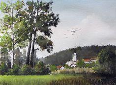 Watercolor from Ljubljansko barje