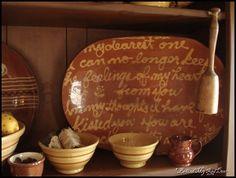 Yellowware and redware (love the platter!)