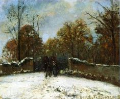 Entering the Forest of Marly (Snow Effect) - Camille Pissarro - The Athenaeum