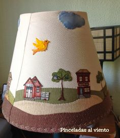 Outdoor Lighting Ideas The decision to purchase your very own home, is one of the largest investments you will ever make. Diy Drum Shade, Lampshade Redo, Diy And Crafts, Arts And Crafts, House Quilts, Patch Quilt, Lamp Shades, Applique Designs, Decoration