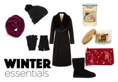 """""""Winter Essentials"""" by destinyfullerton ❤ liked on Polyvore featuring Halogen, The Elder Statesman, Burton, Jacques Vert, UGG Australia, Yankee Candle, Sonoma life + style and HOBO"""