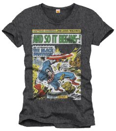 Camiseta Capitán América. And So It Begins