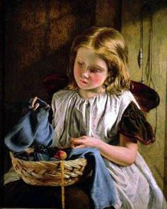 A Stitch In Time-Walter Anderson (1820 – 1886, English)