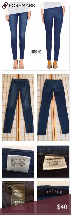 """J Brand Super Skinny Jeans Very good used condition. Size says 27 but is more like 26 due to washing. Two front pockets and two rear.  Approximately 30"""" inseam. J Brand Jeans Skinny"""