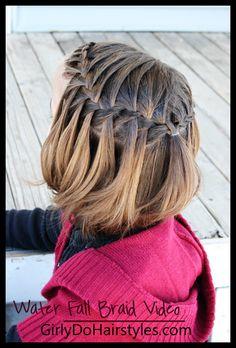 Girly Do Hairstyles: By Jenn: Waterfall Braid VIDEO/Tutorial