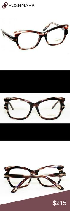 4aa5fc8a9e7e Tom Ford Eyeglasses New and authentic Tom Ford Eyeglasses Grey Brown frame  Size Includes original case Tom Ford Accessories Glasses