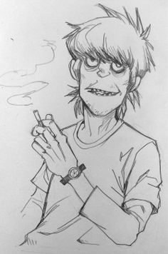 My art gorillaz keith richards murdoc gorillaz art murdoc niccals jaegervega