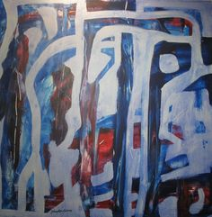 Maleri Resirkulering 2 format 100x100 cm