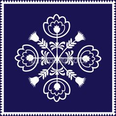 Polish pattern folk on white background - single element