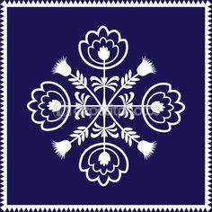 Polish pattern folk on white background - single element