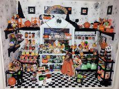 1 12 Scale Halloween Candy Shop Roombox by Artisan OOAK Dollhouse Miniature   eBay