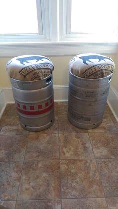 Beer Keg Stool For The Home Pinterest Beer Keg And