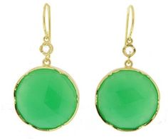 Irene Neuwirth Rose Cut Chrysoprase Earrings in Yellow Gold - Polyvore