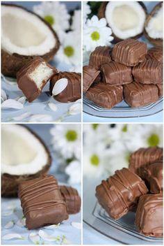 Huisgemaakte chocolade bounty