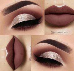 Gorgeous Makeup: Tips and Tricks With Eye Makeup and Eyeshadow – Makeup Design Ideas Makeup Eye Looks, Cute Makeup, Gorgeous Makeup, Skin Makeup, Eyeshadow Makeup, Pretty Makeup, Makeup Eyebrows, Makeup Brushes, Purple Eyeshadow