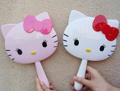 Hello Kitty Handheld Portable Make-up Mirror Cosmetic Pocket Mirror