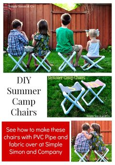 Summer Camp Chair Tutorial (That you can make yourself!) - Simple Simon and Company