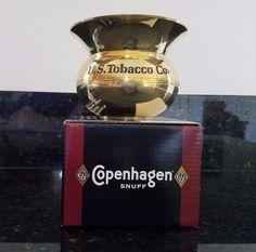 1992 Copenhagen Snuff Brass Spittoon with Original Box - US Tobacco Co, Skoal, in Collectibles, Tobacciana, Other Tobacciana   eBay
