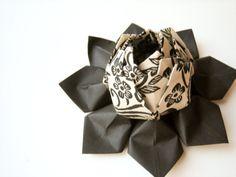Origami Lotus Flower Decoration or Favor // by fishandlotus, $10.00