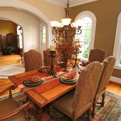 Tuscan Style Design Decorating House Dining