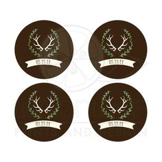 Deer Antler Wedding Envelope Seals