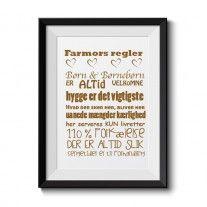 Farmors regler (forskellige størrelser)