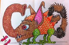 monsters with texture- would be awesome to draw these and then try to sculpt them