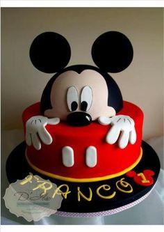 Torta de Mickey by kathy