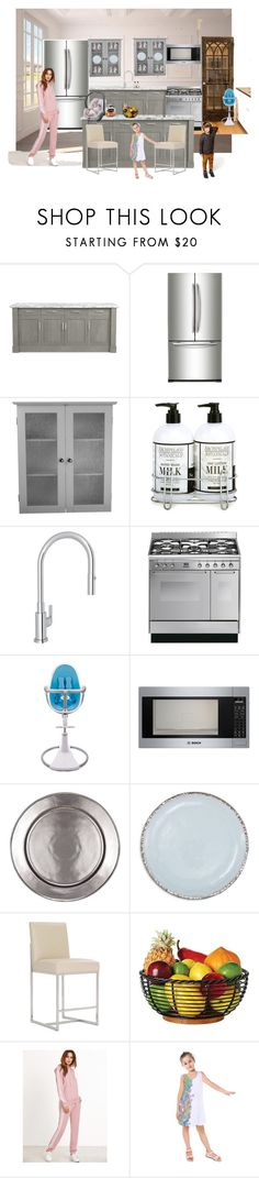 """Kitchen"" by vegas777 ❤ liked on Polyvore featuring interior, interiors, interior design, home, home decor, interior decorating, Williams-Sonoma, Samsung, Elegant Home Fashions and Archipelago Botanicals"